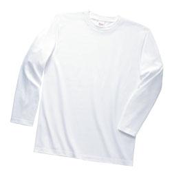 ヘビーウエイト長袖リブ無しカラーTシャツ